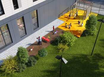 Детская игровая площадка во внутреннем дворе